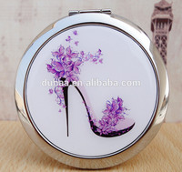 Dubaa Mother of Purple High Heel Shoes Design Double Magnifying Compact Cosmetic Makeup Hand Mirror
