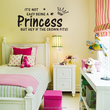 wall stickers for kids room 3d art vinyl quotes princess crown wall stickers children girls room decal wall stickers decal decor