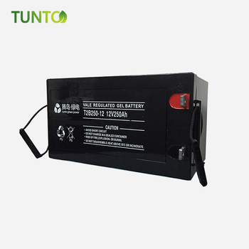 New product 12V250Ah for street light system energy solar battery