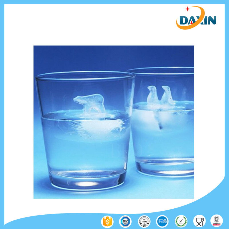 Fancy polar bear shape silicone rubber ice cube tray