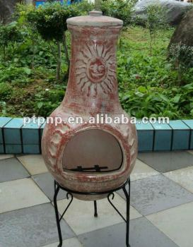 large garden used clay chimney