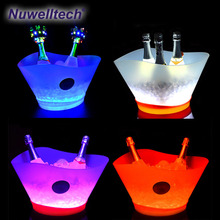 ice bucket holder bright LED ice cooler for beer wine champagne bars night party