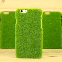 2016 New Creative Environmental Green Glass Pattern PC Mobile Phone Case Cover For Iphone 6 6plus CO-PC-3026