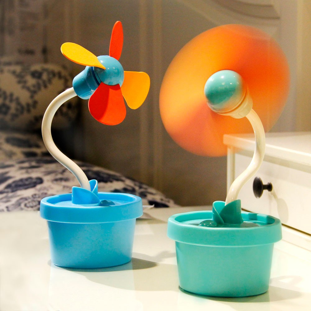China hot sales gift item plastic quiet usb table mini electric cold air fan