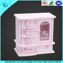 Girls pink bedroom furniture 4 tier cosmetic storage cabinet