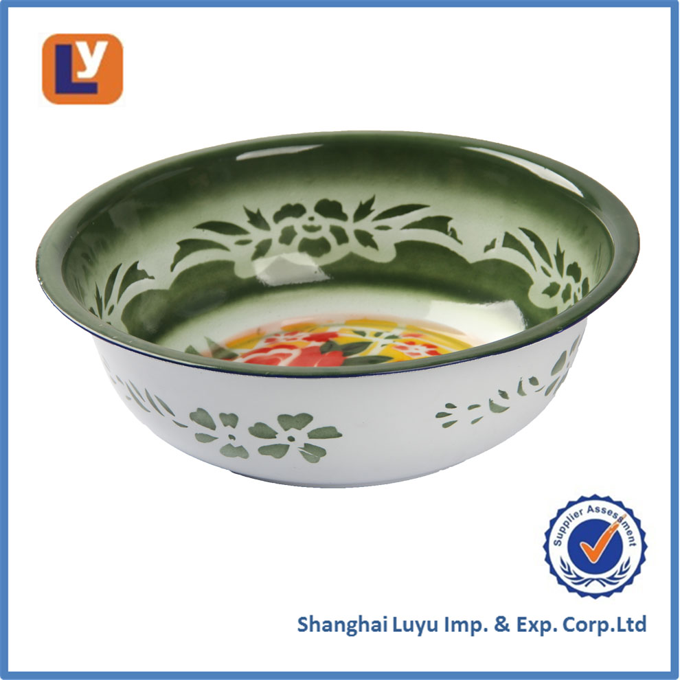 portable enamel wash basin with beautiful design