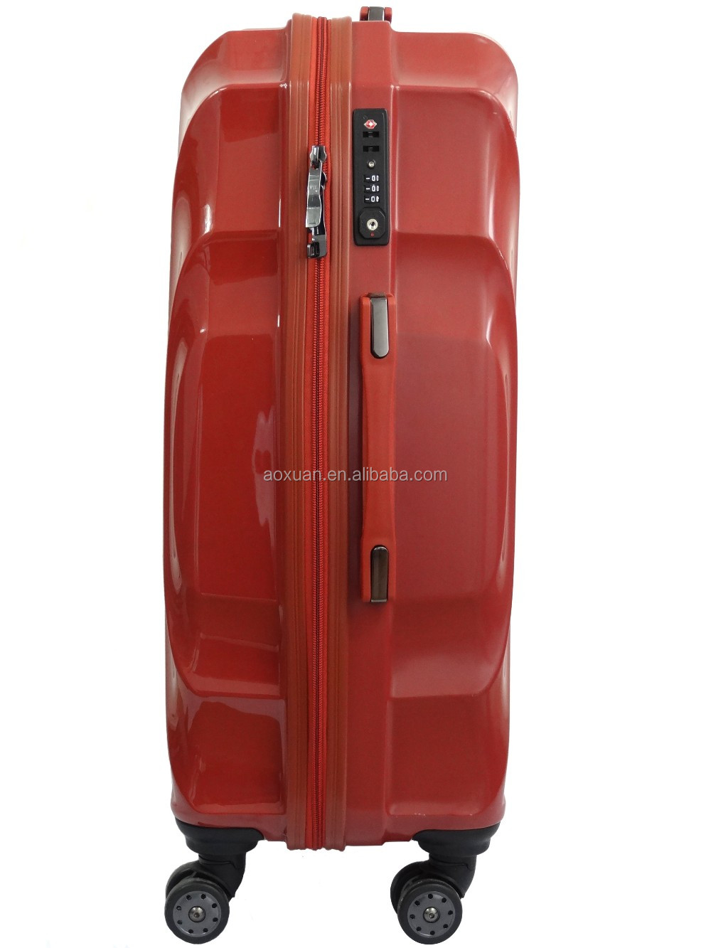 polycarbonate trolley luggage 2016 new mold 100% PC trolley luggage polycarbonate trolley luggage