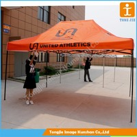 Customer printing aluminium frame folding gazebo tent with polyester canopy for sale