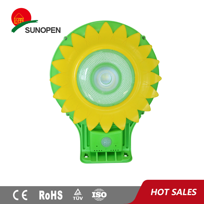 5w led Outdoor sunflower door garden solar light