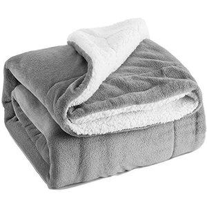 All Season Travel Office Lamb's Wool Sherpa Throw blanket
