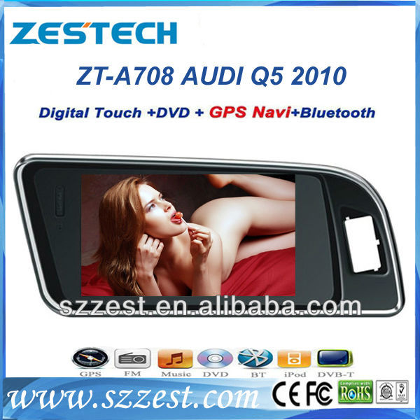 ZESTECH Wholesales 7in car dvd for Audi Q5 car dvd cd radio player with gps navi head unit