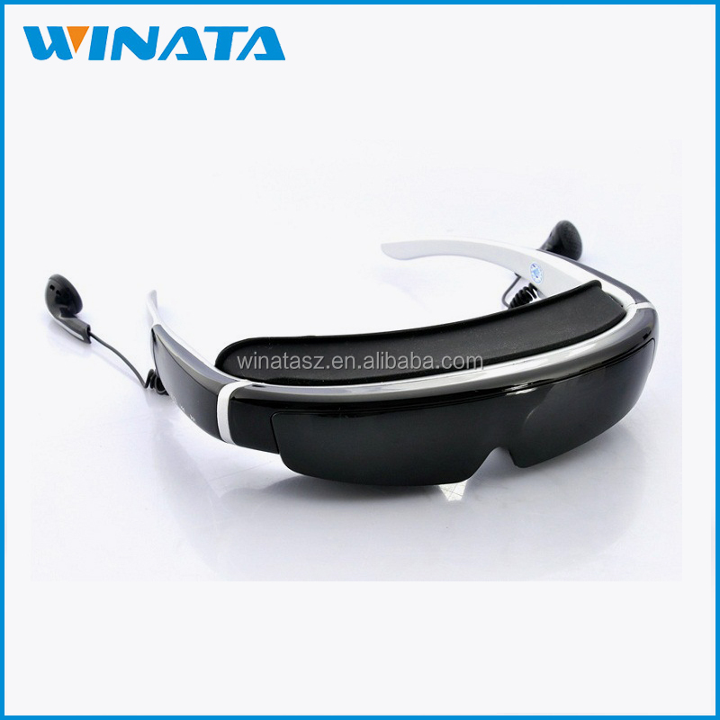 98 Inch 3D Video Glasses Goggles 1080P HMD Portable Personal Cinema Theater Support AV input and VGA input Computer Glasses