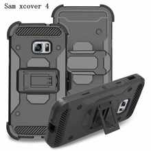 3 in 1 Belt Clip Holster Heavy Duty Case For Samsung Galaxy Xcover 4 G390F Phone Case With Kickstand