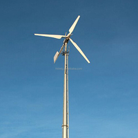 LOW NOISE! horizontal axis 2KW wind power generator price type variable pitch wind turbine, 24v 48v 240v wind power system