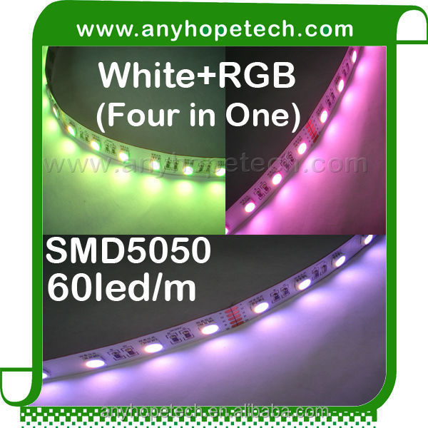 ip20 ip65 ip68 high quality 60leds/m White+RGB dimmable led rope light