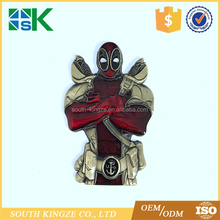 Hotsale Irregular Shape Zinc Alloy Ancient Bronze Plating USN Deadpool Challenge Coin for Souvenir Gift