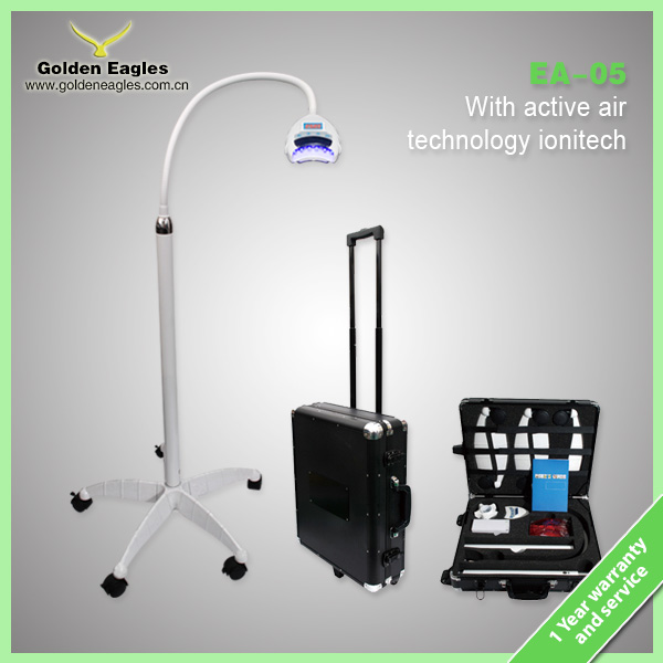 cool blue light LED teeth whitening lamp ionizer function with aluminum case