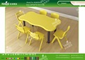 Kaiqi KQ60203D kindergarten furniture children plastic wavy tables different colors and sizes available