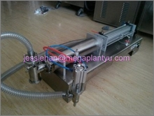 horizontal semi-auto small beverage filling machine for filling juice or aseptic
