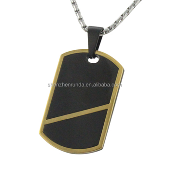 2016 Hot sale men and womem simple design fashion custom stainless steel pendant