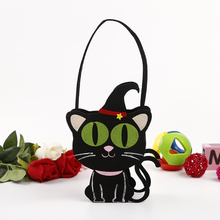 BSCI Factory Directly Sale black cat Fabric christmas decorations