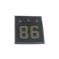 Custom embossed special material patch epoxy rubber logo labels sew on clothing