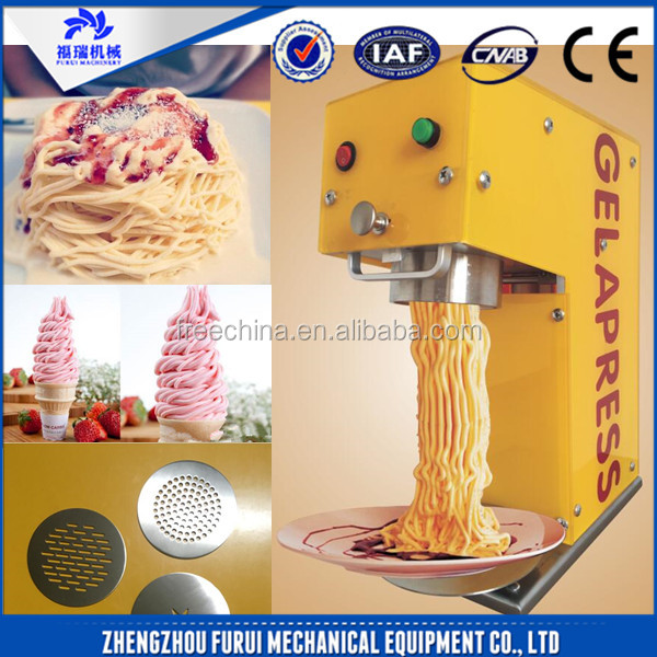 Stainless steel spaghetti noodle ice cream maker machine/spaghetti itlaian ice cream pasta maker