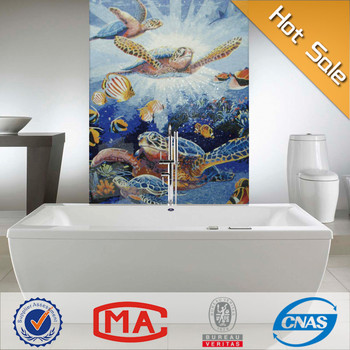 Bathroom Background Modern Decor Mosaic Mural 3d Effect