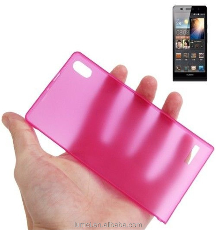 Ultra Thin 0.3mm Clear Hard Back Case For Huawei Ascend P6