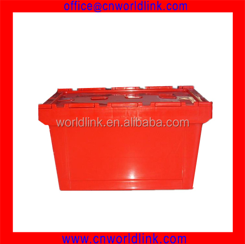 340 Attached Lid Moving Storage File Plastic Box For Sale