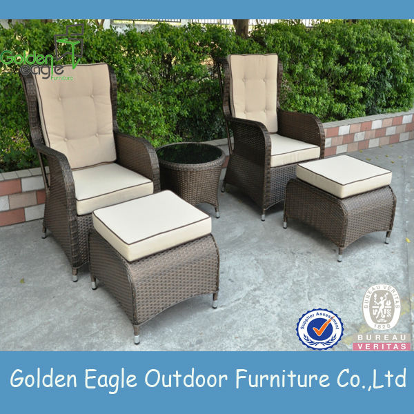 Pe Synthetic Rattan Aluminum Outdoor Furniture Plastic