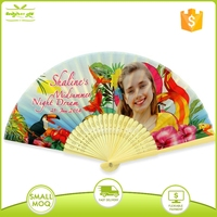Pesonslized Bamboo Polyester Souvenir Hand Folding
