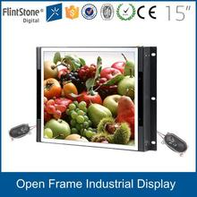 Flint stone Shenzhen china alibaba lcd displays 15 inch open frame monitor/lcd screen