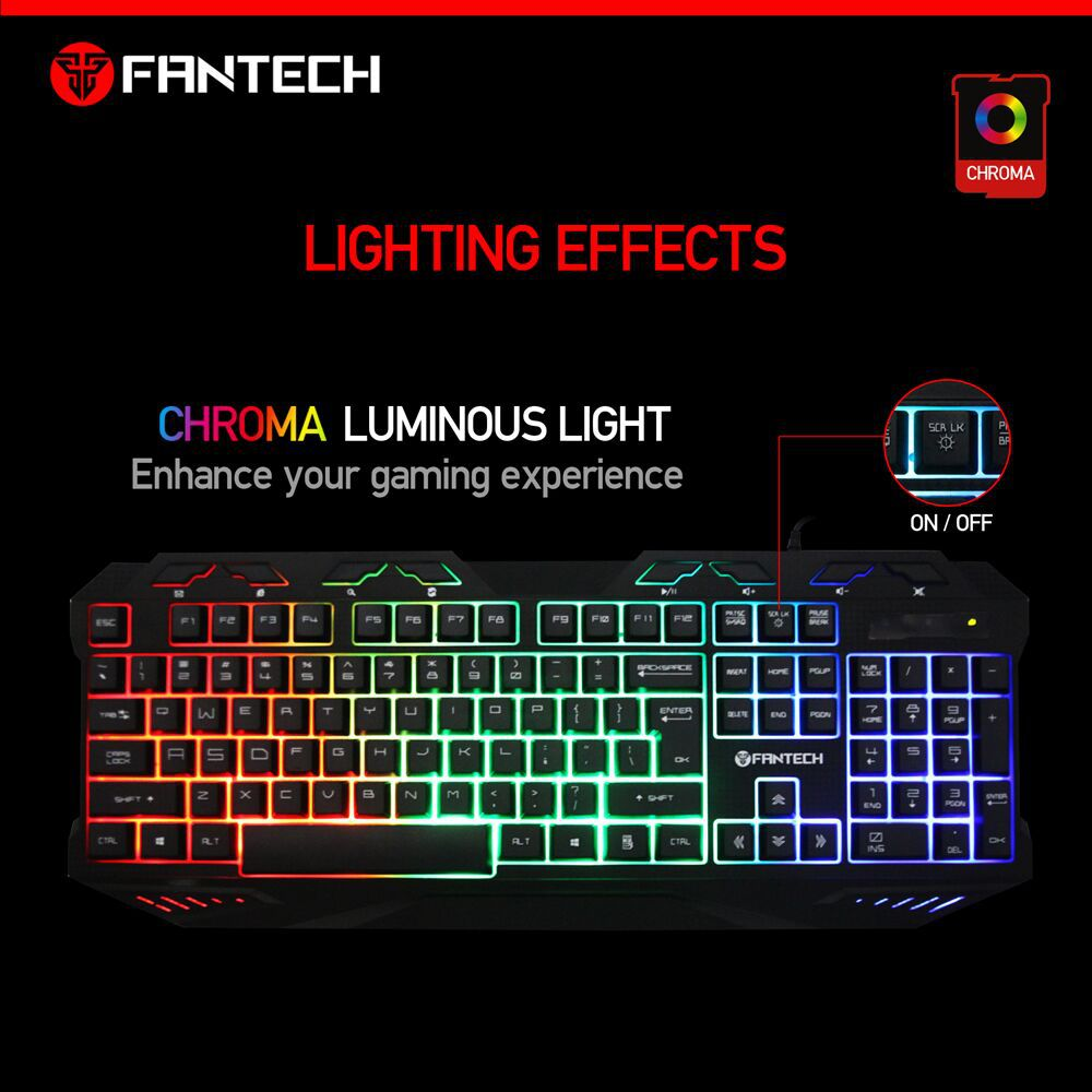 Hot sale gaming keyboard,112 keyboard wired keyboard Fantech <strong>K10</strong>
