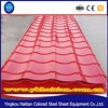 Building Material roof tile Thickness 0.3mm-0.6mm PPGI metal roofing sheet tile popular red roofing shingles