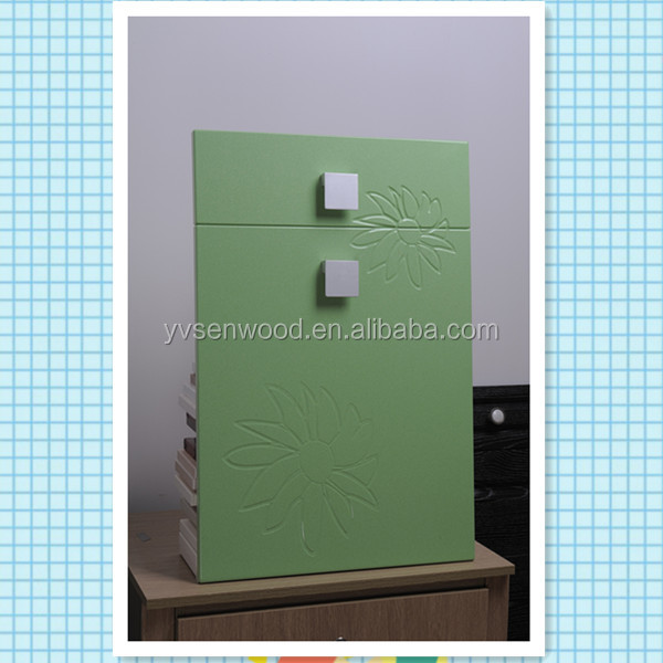 PVC white melamine UV MDF kitchen cabinet door