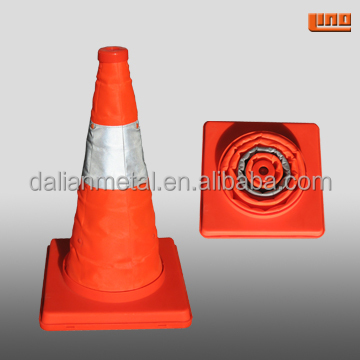 Reflective road traffic cone for safety