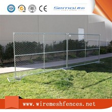 Isolation sheet metal temporary fence panel portable chain link fence panel