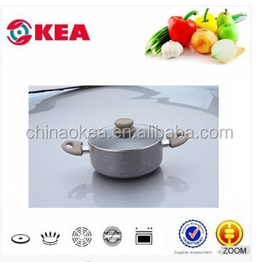 Aluminum national cooker inner pot with glass lid insulated food warmer casserole use soft-touch handle pot