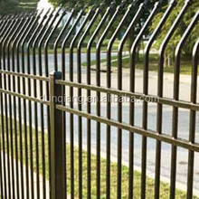 Welded steel picket fence/spear top wrought iron ornamental fence