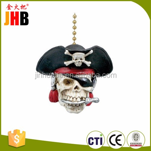 Polyresin Pirate Ship Theme Ceiling Fan Pull