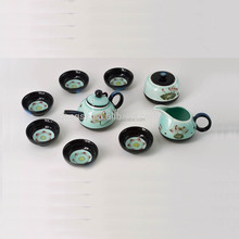 Popular flower vitreous chinese porcelain Tea Set