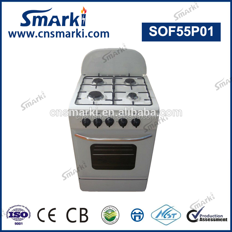 SOF55P01 20 Inch 50*50cm 4 Gas Burners Free Standing Gas Cooker with Oven
