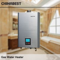 Stainless Steel Panel Force Draught Type Tankless Instant Gas Water Heater S2 series(12/20 L)