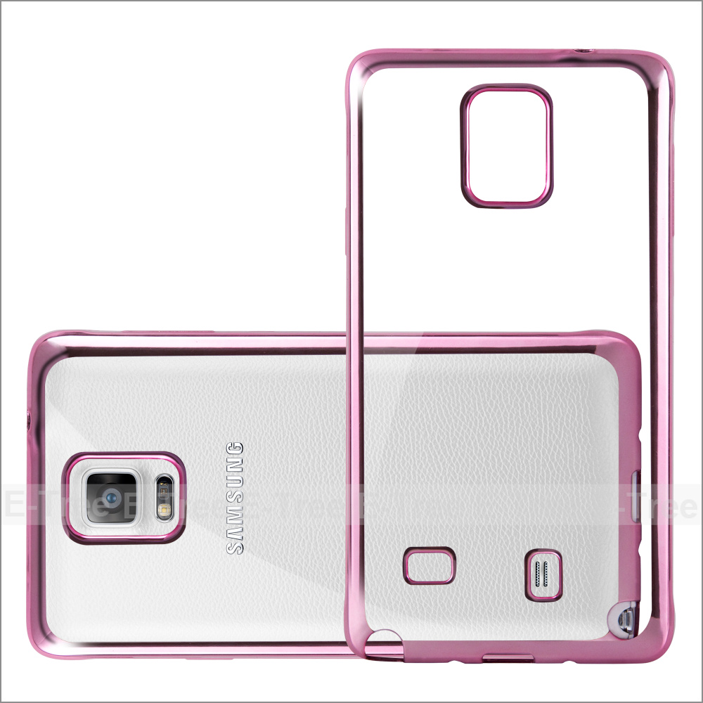 Chrome TPU Soft Phone Case For Samsung Galaxy Note4