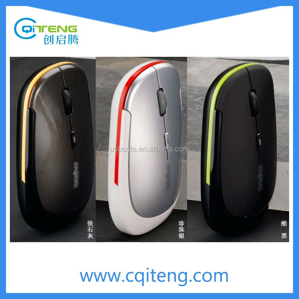High quality Ultra Thin USB Optical Wireless Mouse 2.4G Receiver Super Slim Mouse