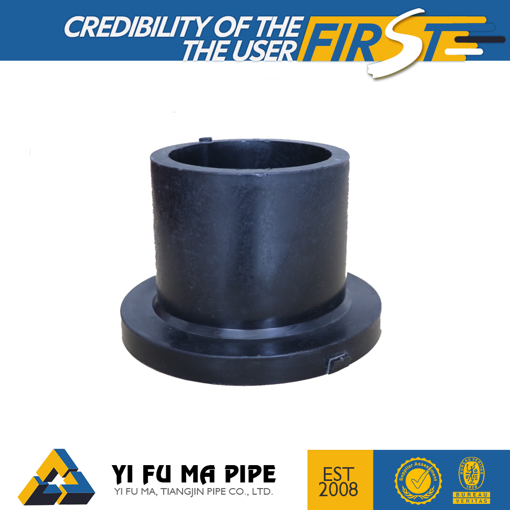 Factory Supply high quality HDPE flange pipe fitting plastic stub end PN10 PN16 price