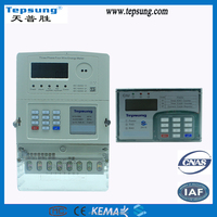 ISO9001 standards Class 1 STS Three Phase Digital and Smart Prepaid Keypad Energy Meter