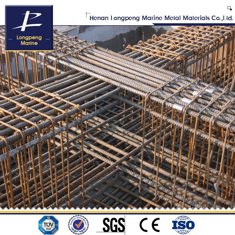 Metallic material steel rebar/ deformed round steel bar/iron rods price per ton for construction concrete for building metal