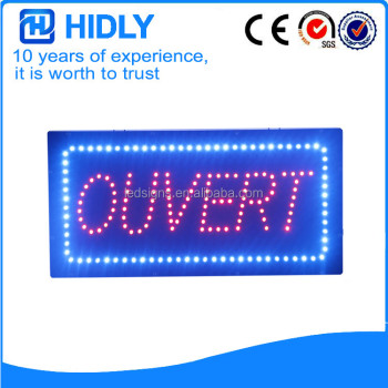 Multi customed led ouvert letter open sign indoor use